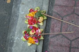 Opfergabe Ubud Bali