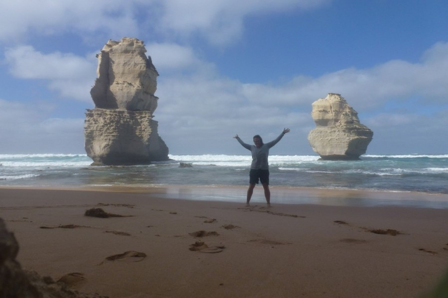 Am Strand nahe den 12 Aposteln in Australien