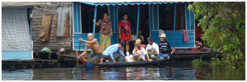 Siem real nach Battambang mit dem Boot