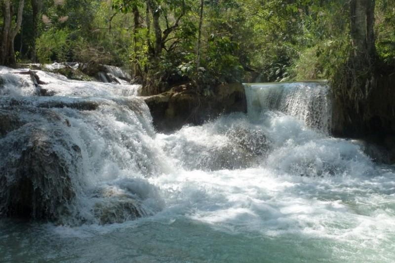 Tad Kuang Xi Wasserfall Laos