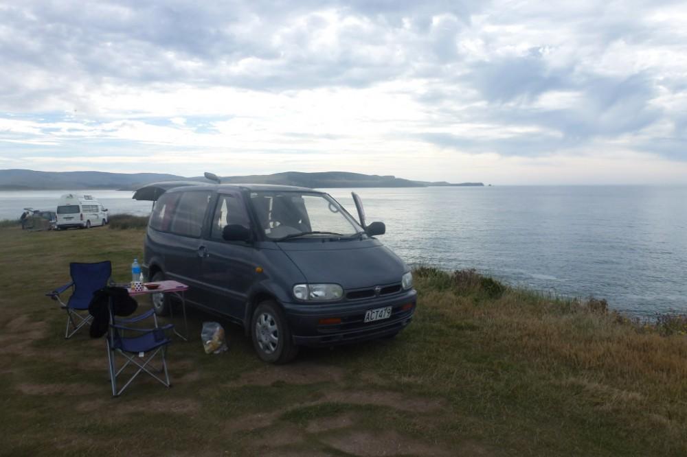 Campingplatz Curio bay