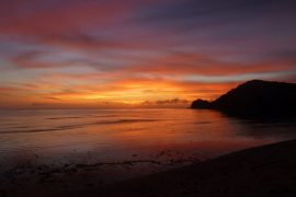 Sunset in Fiji
