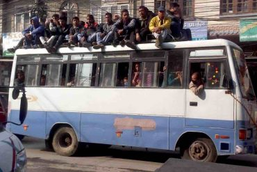 busfahren in Kathmandu