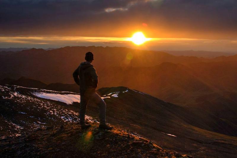 Sonnenuntergang im Denali Nationalpark