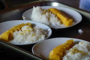 Sweet sticky rice mit Mango