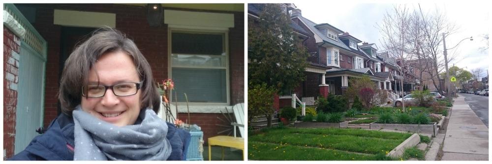 Vor meiner Airbnb Unterkunft in Toronto