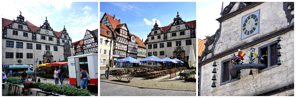 Marktplatz und Rathaus Hann. Münden
