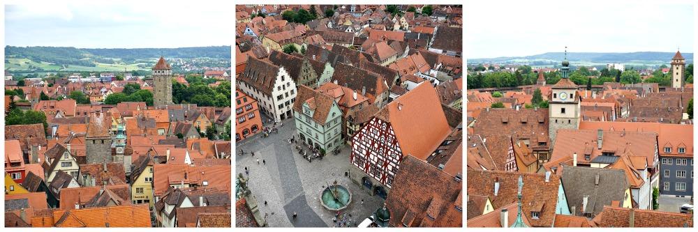 Ausblick Rathaus Rothenburg