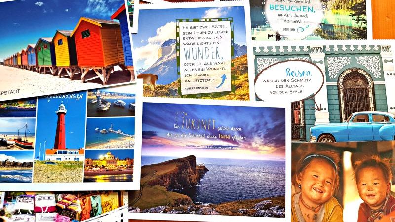 """SoEine Postkarte ist auch irgendwie immer ein Zeichen von """"ich denk an dich"""""""